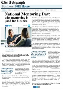 Telegraph Why mentoring is good